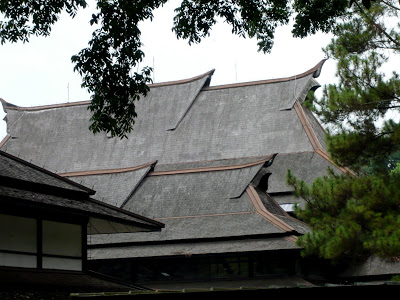 Indonesian style roofs in the university buildings